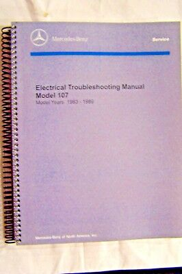 mercedes 560sl 380sl owners electrical service manual w107 new rh picclick com