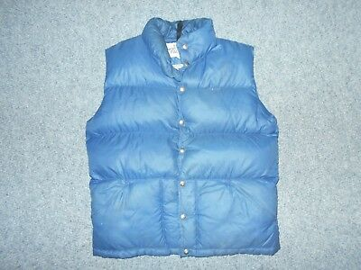The North Face Vintage 80's Mens Large Classic Blue Down Hiking Vest          K8