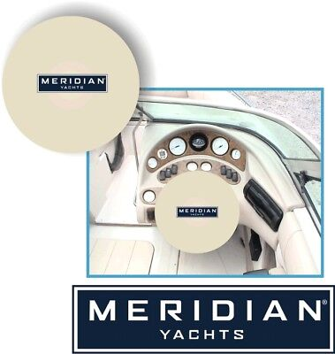 WHITE 100% Microfiber MERIDIAN YACHTS Stretchable Boat Steering Wheel Cover