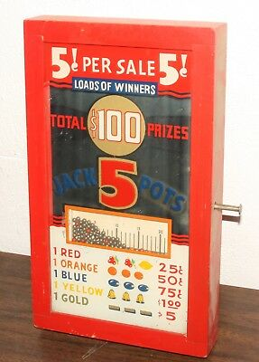 Trade Stimulator 5 Cent Lead Balls Pays $100 Stimulater Bar Game 1940s