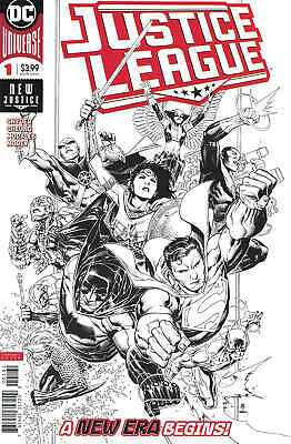 Justice League #1 1:100 Jim Cheung Inks Only Variant DC 2018 Scott Snyder