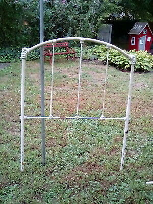 Wrought iron victorian style bed frame single