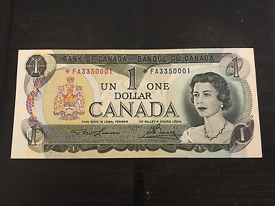 Canada 1973 $1 Replacement Asterix Banknote  *fa Unc!!