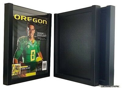 UV Protecting Magazine Display Frame Case Black Shadow Box Standard Lot of 3 B