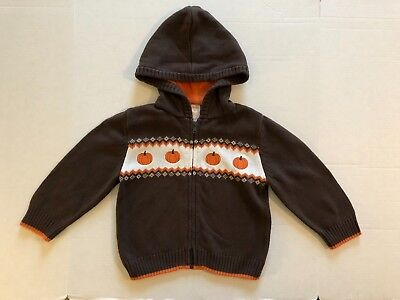 Gymboree Pumpkin Halloween Sweater Hoodie Size 2T