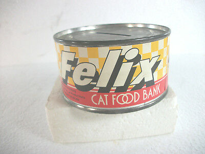 1983 Vintage Felix Cat Food Tin Bank by Determined Productions San Francisco