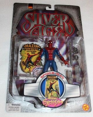 "Marvel Comics Silver Age Spider-Man 5"" Action Figures Preview Exclusive Toybiz"
