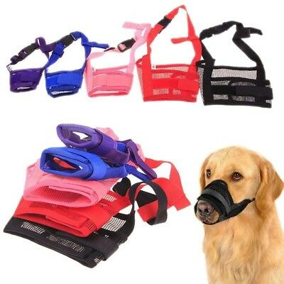 Adjustable Pet Dog Train Mask Anti Bark Bite Mesh Mouth Muzzle Mask Outdoor US