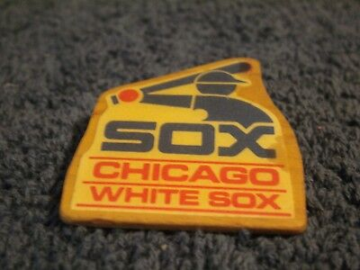 Chicago White Sox Hand Made Wooden Lapel Pin! Very Unique And Rare!!