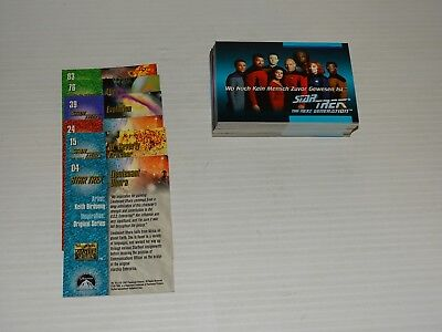 Star Trek Trading Cards Tng 1992 45 Cards 33 Diff & 12 Spares Plus 6 Skybox 1993