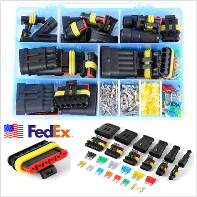 Waterproof 1/2/3/4/5/6 Pin Way Autos Electrical Connectors Terminal+Box US Stock