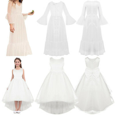 Formal Communion Flower Girl Dress Pageant Wedding Bridesmaid Kids Gown Dresses