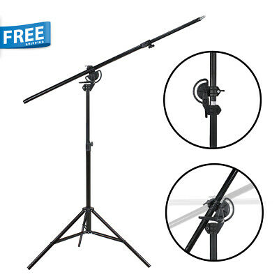 """110"""" Boom Stand 60"""" Arm Bar 2 Way Rotatable Photo Studio Continuous Lighting"""
