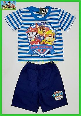 BNWT PAW Patrol t-shirt Outfit boys tshirt top 3/4 pants 2pc kids outfit set new