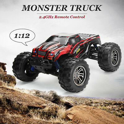 1:12 2.4G 2WD Remote Control Off-Road Monster Truck High Speed RTR RC Car Toy