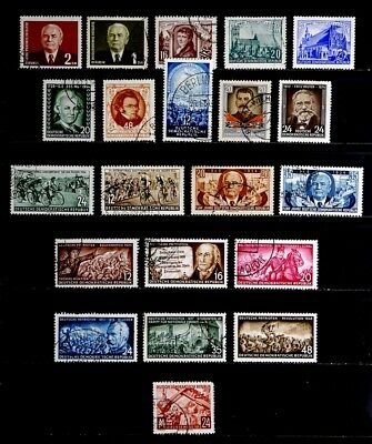 Ddr, Germany: 1953-4 Stamp Collection With Better