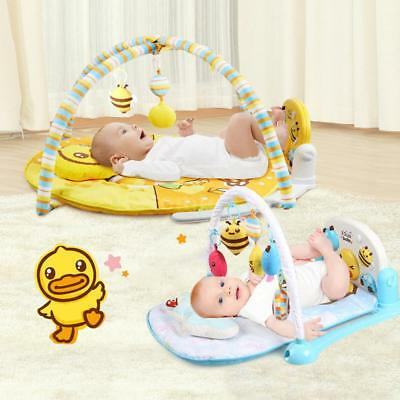 3 in 1 Baby Light Musical Gym Play Mat Lay Play Fitness Fun Piano Boy Girl J7X0