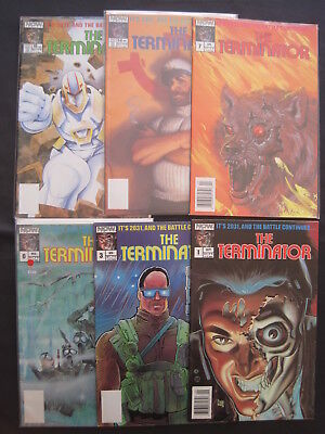 TERMINATOR : 1st EVER 1988 NOW SERIES, issues 1,3,6,7,14,16. VFN-NM
