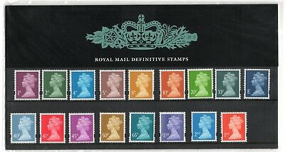 GB 2002 Machin 1p to £1, E, 2nd & 1st Definitives Presentation Pack No. 57 VGC