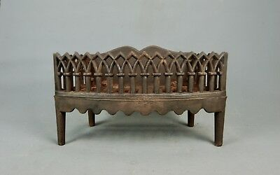 Antique Victorian cast Iron FIREPLACE COAL BASKET WOOD LOG GRATE late 19th c
