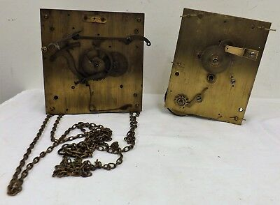 A Pair of Antique Clock Movements - 1 x Single Fusee, 1 x Longcase - Working