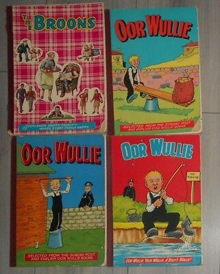 Lot Of 1970S Readers Copies , Oor Wullie And Broons Annuals