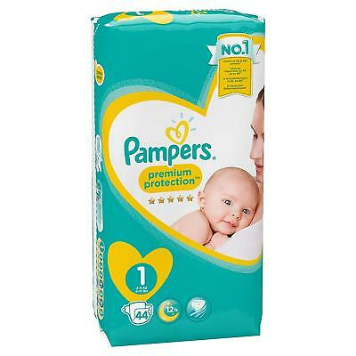 Couche Pampers New Baby Taille 1 LOT 2 Packs x44 (88 couches) Bébé Aucune Fuite