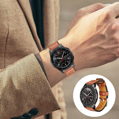 Quick Release Leather Watchband Strap For Samsung Gear S3 Classic/Frontier TH834