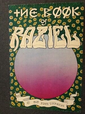 The Book of Raziel (1969, The Print Mint) by John Thompson. VG/Fine Condition.