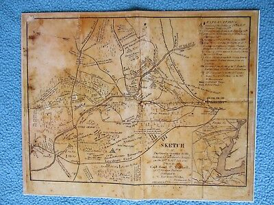 #  Civil War Map - Bull Run, Country Occupied by Federal & Confederate Army 1861