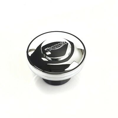 Genuine Triumph Bonneville Scrambler Thruxton Locking Fuel Filler Cap Chrome