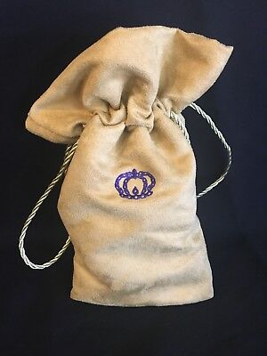 Crown Royal Reserve Tan Suede Drawstring Bag  Smoke Free