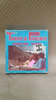 Vintage Black White 8mm Film High Society Taboo Phoenix Glamour Adult Cine Reel
