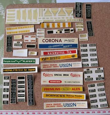Bus Truck Railway 1:76 OO Waterslide Transfer Decals Code 3 Scale Models HO 1