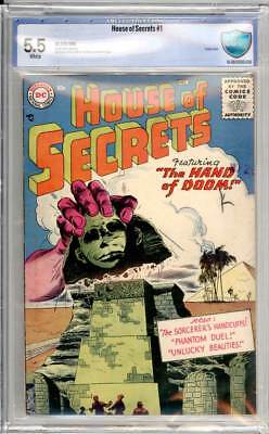 House of Secrets # 1  The Hand of Doom !  CBCS 5.5 very scarce book !