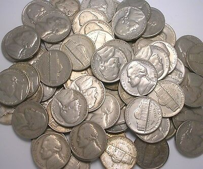 Complete Set of Jefferson Nickels 1938 through 1974 (Lot of 87 Coins)