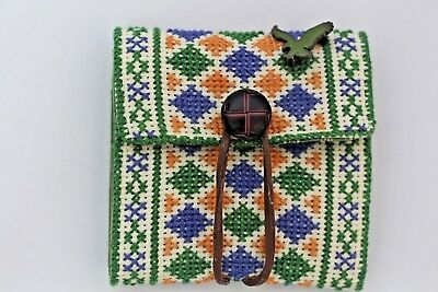 Hand made wallet Arab embroidery unique purse beautiful holder  vintage style