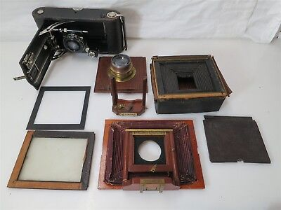 Lot of Vintage & Antique Camera Bits Pieces and Parts for Repair or Restoration