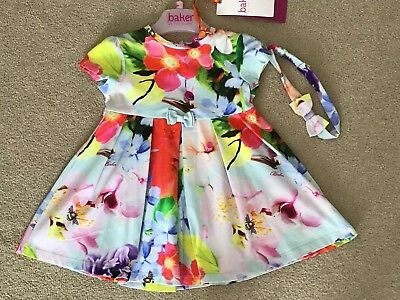TED BAKER BABY GIRLS DRESS SIZE 6 To 9 MONTHS