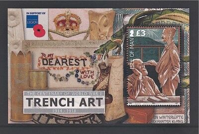 IoM 2014 Life in the Trenches Miniature Sheet MNH