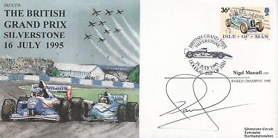 Man British Grand Prix Silverstone Signed Nigel Mansell Formula 1 World Champion