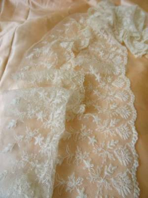 Two Beautiful Antique Lengths of Bridal Lace C.1900