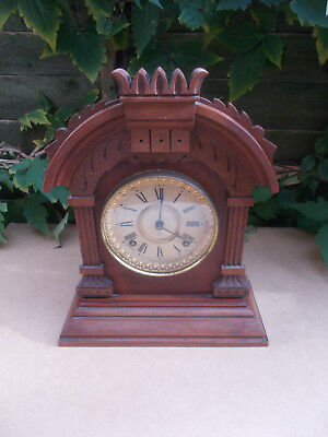 Antique Ansonia 8 Day with Strike Mantle Clock Tunis Model New York USA American