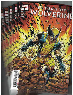 Return of Wolverine #1 First Print Cover A Wholesale 10 Copies Marvel 2018