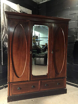 Can Deliver Vintage Armoire Edwardian Antique Wardrobe Robe Dresser Chic A