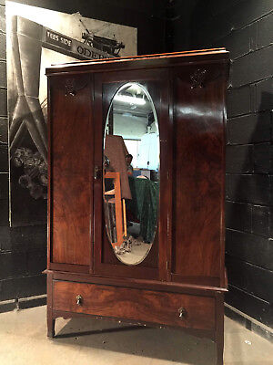 Can Deliver Vintage Armoire Edwardian Antique Wardrobe Robe Dresser Chic B