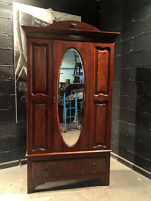 Can Deliver Vintage Armoire Edwardian Antique Wardrobe Robe Dresser Chic C