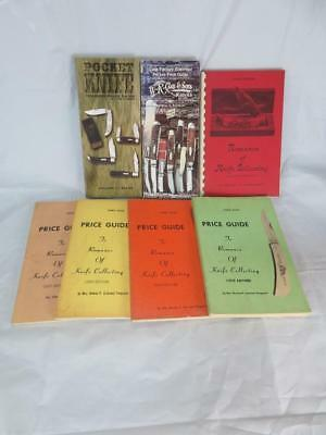Lot of 7 Knife Collecting / Pricing Soft Cover Books