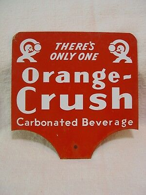 There's Only One Orange Crush Soda 2-Sided Advertising Paddle Rack Sign Crushy