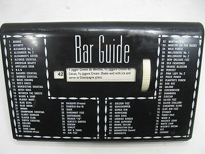 1950's BAR GUIDE Box For Cocktail Drinks Glenn Shaw Créations Vintage Retro